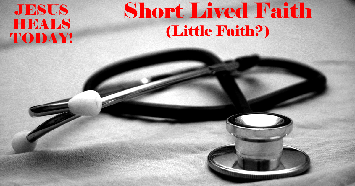 Short Lived Faith (Little Faith?)